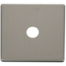 Click SCP231SS Single Coaxial Socket Cover Plate - Stainless Steel