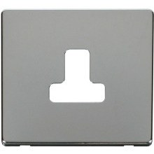 Click SCP238CH 5A Round Pin Socket Outlet Cover Plate - Chrome
