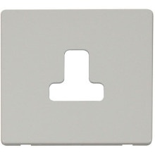 Click SCP238PW 5A Round Pin Socket Outlet Cover Plate - White
