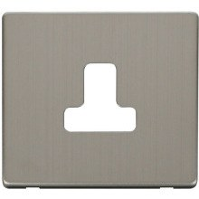 Click SCP238SS 5A Round Pin Socket Outlet Cover Plate - Stainless Steel