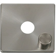 Click SCP241BS 1 Gang Dimmer Switch Cover Plate - Brushed Stainless