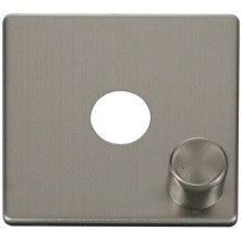 Click SCP241SS 1 Gang Dimmer Switch Cover Plate - Stainless Steel