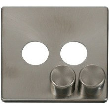 Click SCP242BS 2 Gang Dimmer Switch Cover Plate - Brushed Stainless