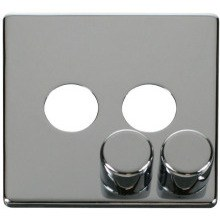 Click SCP242CH 2 Gang Dimmer Switch Cover Plate - Chrome
