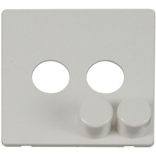 Click SCP242PW 2 Gang Dimmer Switch Cover Plate - White