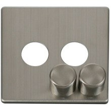 Click SCP242SS 2 Gang Dimmer Switch Cover Plate - Stainless Steel