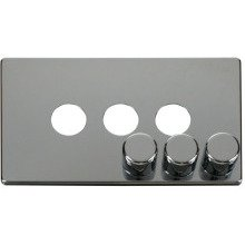 Click SCP243CH 3 Gang Dimmer Switch Cover Plate - Chrome