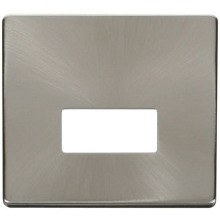 Click SCP250BS Connection Unit Cover Plate - Brushed Stainless