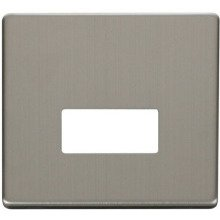 Click SCP250SS Connection Unit Cover Plate - Stainless Steel