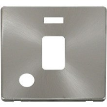 Click SCP323BS 20A DP Switch With Flex Outlet & Neon Cover Plate - Brushed Stainless