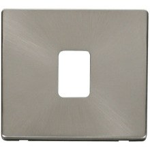 Click SCP422BS 20A DP Switch Cover Plate - Brushed Stainless
