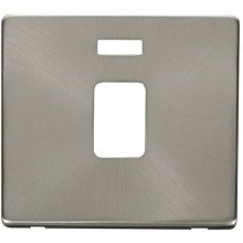 Click SCP423BS 20A DP Switch With Neon Cover Plate - Brushed Stainless