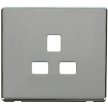 Click SCP430CH 1 Gang 13A Socket Cover Plate - Chrome