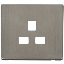 Click SCP430SS 1 Gang 13A Socket Cover Plate - Stainless Steel