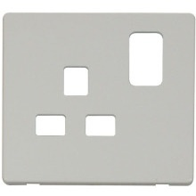 Click SCP435PW 1 Gang 13A Switched Socket Cover Plate - White