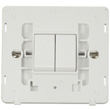 Click SIN012PW 10AX 2 Gang 2 Way Switch Insert - White