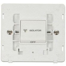 Click SIN020PW 10A 3 Pole Fan Isolation Switch Insert - White