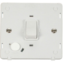 Click SIN022PW 20A DP Switch With Flex Outlet Insert - White