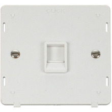 Click SIN115PW Single RJ11 Socket Outlet Insert - White