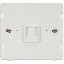 Click SIN120PW Single Telephone Socket - Master Insert - White