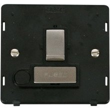 Click SIN551BKSS INGOT 13A Fused Sw. Conn. Unit With Flex Outlet Insert - Black / St. Steel