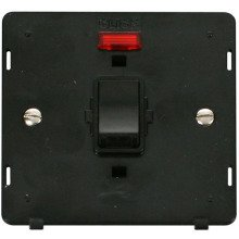 Click SIN623BK 20A 1 Gang DP Switch With Neon Insert - Black