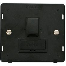 Click SIN651BK 13A Fused Switched Connection Unit Insert - Black