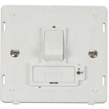 Click SIN851PW 13A Fused Switched Connection Unit (Lockable) Insert - White