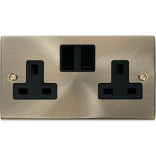 Click VPAB036 2 Gang 13A DP Switched Socket Outlet