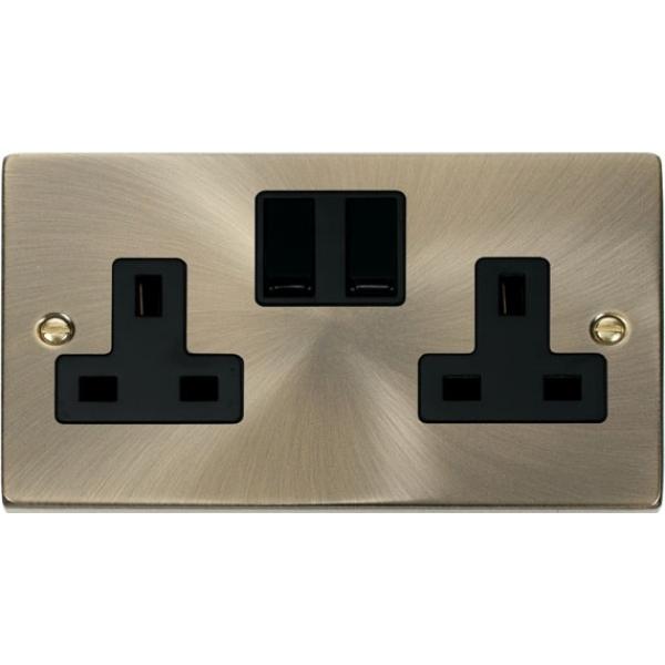 Click Vpab036 2 Gang 13a Dp Switched Socket Outlet