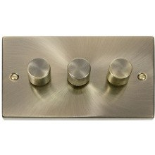 Click VPAB153 3 Gang 2 Way 400Va Dimmer Switch