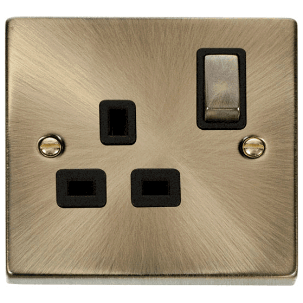 Click VPAB535BK 1 Gang 13A DP Ingot Switched Socket Outlet