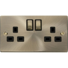 Click VPAB536BK 2 Gang 13A DP 'Ingot' Switched Socket Outlet