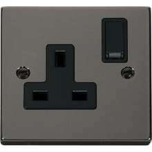 Click VPBN035BK 1 Gang 13A DP Switched Socket Outlet