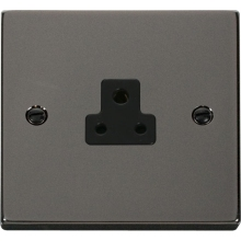 Click VPBN039BK 2A Round Pin Socket Outlet
