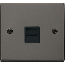 Click VPBN125BK Single Telephone Socket Outlet Secondary