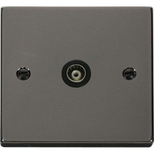 Click VPBN158BK Single Isolated Coaxial Socket Outlet
