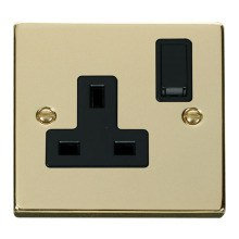 Click VPBR035BK 1 Gang 13A DP Switched Socket Outlet