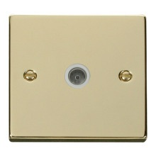 Click VPBR065WH Single Coaxial Socket Outlet