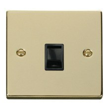 Click VPBR115BK Single RJ11 Socket (Ireland/USA)