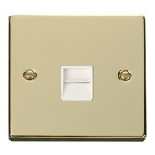 Click VPBR125WH Single Telephone Socket Outlet Secondary