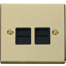Click VPBR126BK Twin Telephone Socket Outlet Secondary