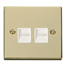 Click VPBR126WH Twin Telephone Socket Outlet Secondary