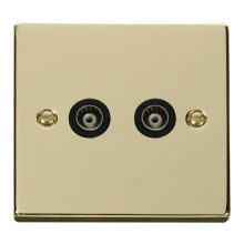 Click VPBR159BK Twin Isolated Coaxial Socket Outlet