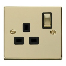 Click VPBR535BK 1 Gang 13A DP 'Ingot' Switched Socket Outlet