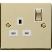Click VPBR535WH 1 Gang 13A DP 'Ingot' Switched Socket Outlet