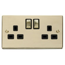 Click VPBR536BK 2 Gang 13A DP 'Ingot' Switched Socket Outlet