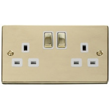Click VPBR536WH 2 Gang 13A DP 'Ingot' Switched Socket Outlet