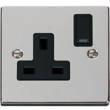 Click VPCH035BK 1 Gang 13A DP Switched Socket Outlet