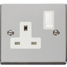 Click VPCH035WH 1 Gang 13A DP Switched Socket Outlet